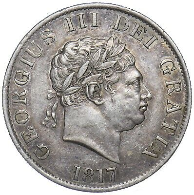 1817 Halfcrown - George Iii British Silver Coin - V Nice