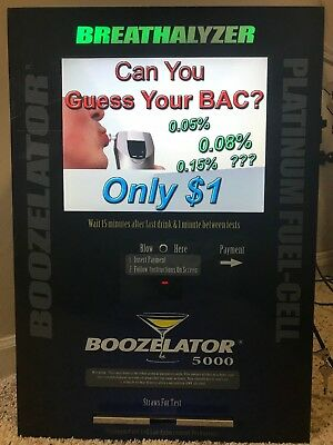Advanced Breathalyzer Vending Machine w/ Advertising option