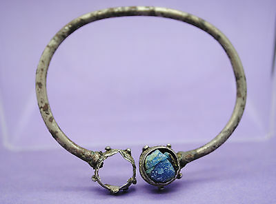 Viking period silver annular brooch with glass paste insert 9th-11th century AD