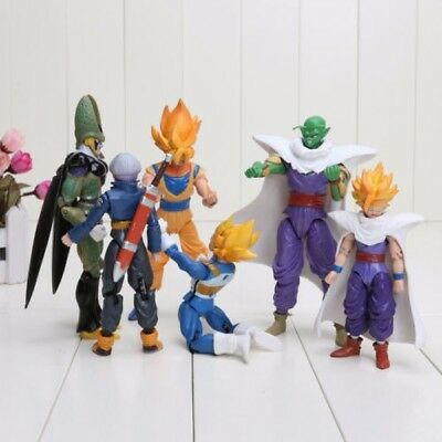 6Pcs Dragonball Z Dragon Ball Goku Vegeta Piccolo Gohan Saiyan Action Figures