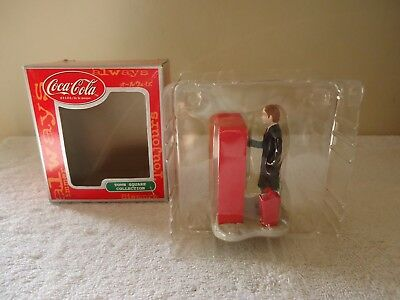 """Coca Cola """" NOS """" Issue 2000 Town Square Collection Man Buying Coke From Machine"""