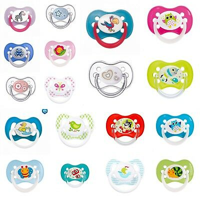 Silicone Soother Newborn 6-18 Symmetrical Cherry Shape Orthodontic BPA Free