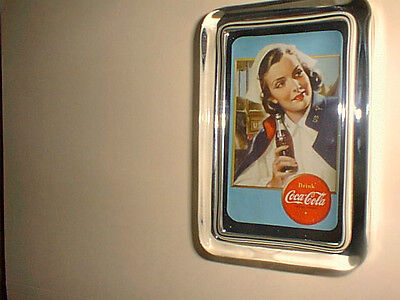 Coca Cola Medical Nurse 40's WW ll Style Uniform Advertising Sign Paperweight