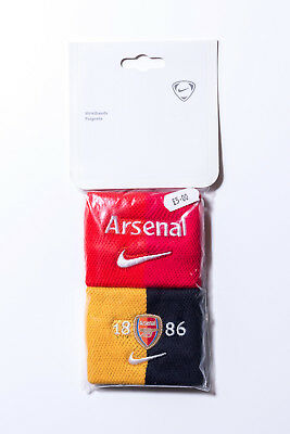 NIKE Arsenal FC Official Red Yellow Black Wristbands