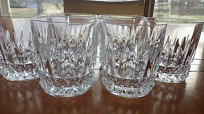 Heavy Crystal Glasses Old Fashioned Tuileries Villandry Cristal D'Arques 6 9oz