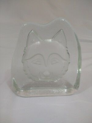 Transparent Crystallized Wolf or Husky Head In Great Condition