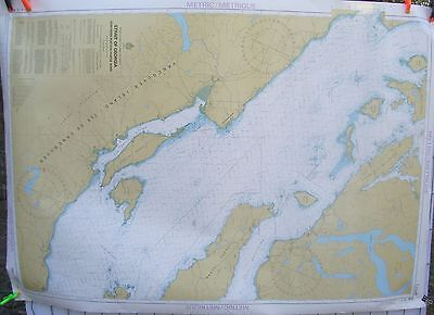 Canada BC Nautical Map Chart #3512 Strait of Georgia Central Portion Nov 1984