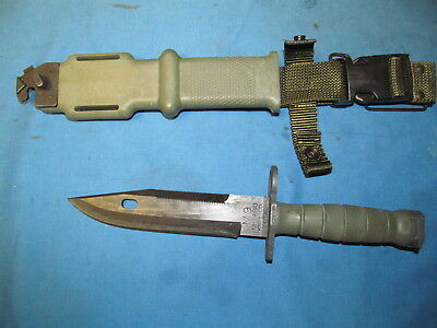 Usgi Military Ontario Knife Co ( Okc ) M9Bayonet Fighting Knife And Scabbard