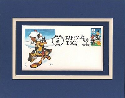 Daffy Duck - Looney Tunes - Frameable Postage Stamp Art - 0598