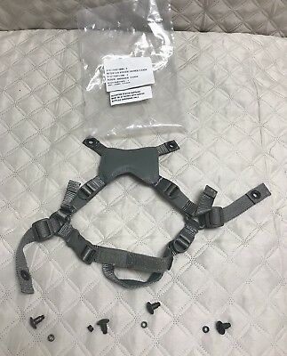 Gentex Acu Ach 4 Point Replacement Chin Strap With Hardware S/m New  Nip