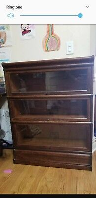 Antique Barrister Lawyers Bookcase Globe Wernicke