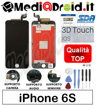 Apple Iphone 6S Nero Vetro Touch Display Lcd Schermo Completo Originale Tianma