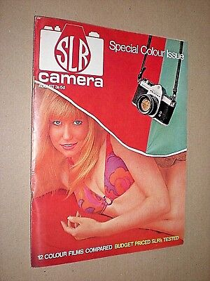 Slr Camera. August 1969. Vintage Photography Magazine.