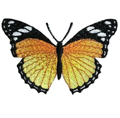 """Monarch Butterfly Applique Patch - Insect, Wings, Antennae 3"""" (Iron on)"""