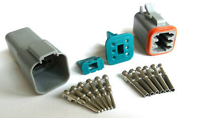 Amphenol AT 6 Pin Sealed Connector Set - Deutch DT Compatible good for 16/18 AWG