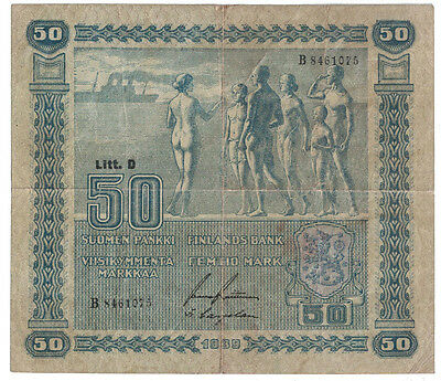 Finland - 1939 50 Markaa Banknote (P-72a)