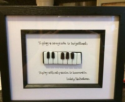 Piano Art - Fused Glass Piano Picture With Famous Composer Quote