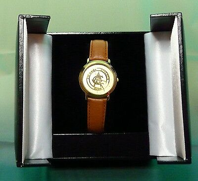 Montreux Watch, Leather Band, Box ~ Atlanta Athletic Club ~ New Battery