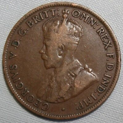 1920  KGV HALF PENNY - RARE and Circulated Coin,  Great Investment