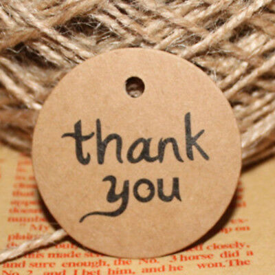 DIY Favor Bonbonniere 100PCS Thank You Wedding Kraft Paper Tags