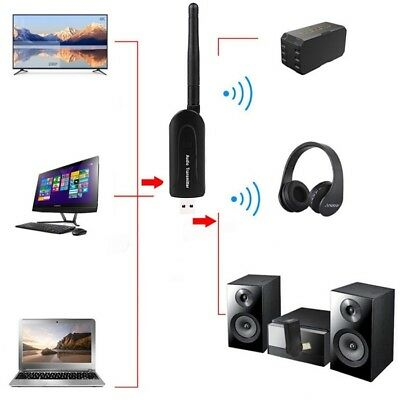 Bluetooth 4.0 Audio Transmitter USB A2DP Stereo Dongle Adapter for PC TV AU