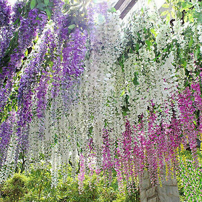 Zl artificial wisteria vine silk flowers wedding garden party zl artificial wisteria vine silk flowers wedding garden party hanging decor br mightylinksfo