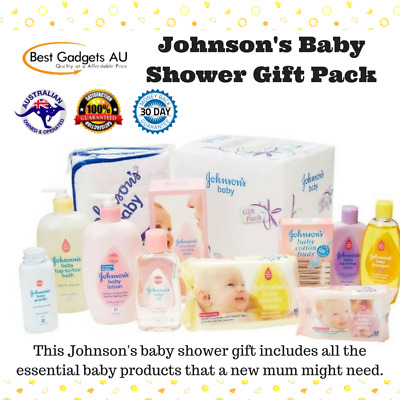 Johnson's Baby Shower Gift Pack Kids Oil Toe Bath Shampoo Powder and Cotton buds