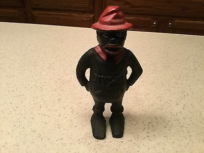 Black Americana Cast Iron Bank Pappy Man Two Sided Give Me a Penny