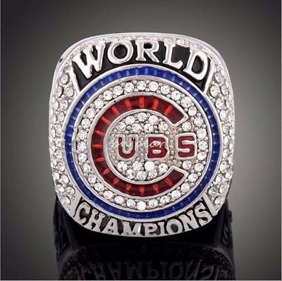 Chicago Cubs 2016 World Series Championship Ring Size 9-12 For ZOBRIST Heavy