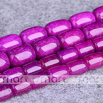"Synthetic Sugilite Barrel Shape Loose Gemstone Beads 15.5"" Inch Strand10x14mm"