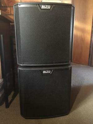 """TWO - AS NEW Alto TS212S 12"""" 1250W Powered PA DJ Subwoofers (can post aus wide)"""