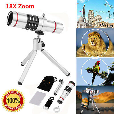 18x Telescope Zoom Optical Telephoto Lens For iPhone 6s 7 Samsung Galaxy S7 MAX