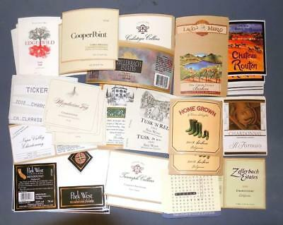 126 California Wine Labels Brand New Unused 18 Different Labels Lot