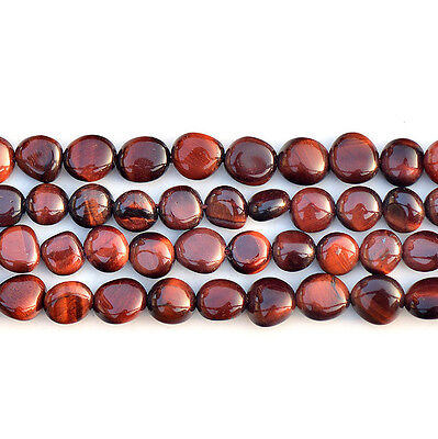 """Natural Red Tiger's Eye Freefrom Gemstone Loose Beads 15"""" Strand 8x12mm"""