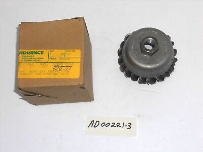 """AD00221-3) ADVANCE, HSS KNOTTED WIRE CUP BRUSH, 3"""" DIA., 5/8""""-11 Threaded Hub"""