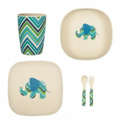 Lily & George -  Bamboo Dinner Set - Eddie Elephant