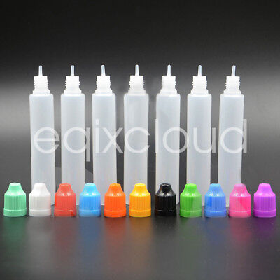 US STOCK 36/108Pcs 30ml 60ml Unicorn Empty Plastic Squeezable Dropper Bottles