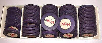Vintage WH Poker Chips Clay