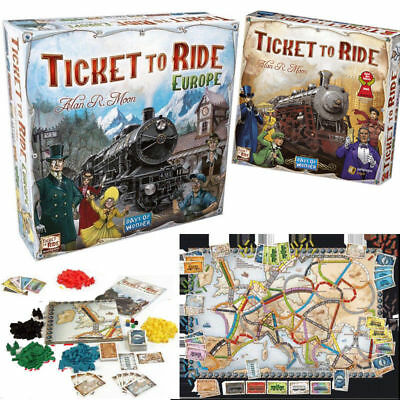 2018 Brand TICKET TO RIDE Edition Europe Family Board Game Great Gift UK Stock