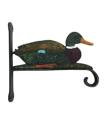 Cast Iron DUCK HOOK Wall Bracket Multi Colour Metal Home Decor