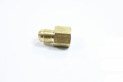 "Pack of 5 Brass Flare 1/4"" OD x 1/8"" Female NPT Female Connector Tube Fitting"