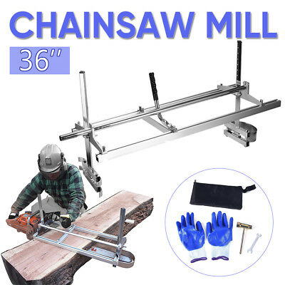 """Chainsaw Mill suits up to a 36"""" Bar Furniture Making for Ripping Slabbing Planks"""