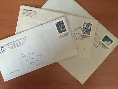 Australian National Parks : 3 Pre Paid Envelopes. Nice item. All Used