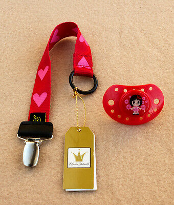 Pack Chupete y Clip sujetachupete Baby Love de ELODIE DETAILS