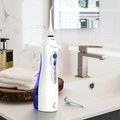 USB Rechargeable Water Flosser Cordless Oral Irrigator 360Degree Rotating Nozzle