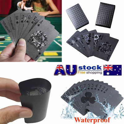 Diamond Black Plastic PET Poker Magic Table Board Game Playing Cards Waterproof