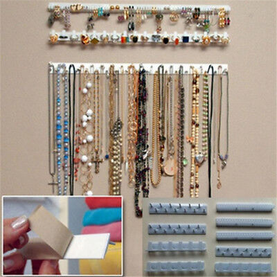 Adhesive Jewelry Display Hanging Earring Necklace Holder Packaging organizer