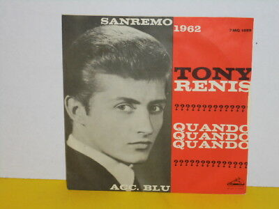 "Single 7"" - Tony Renis - Quando Quando Quando - Sanremo 1962"