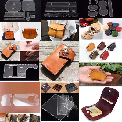 Acrylic Clear Leather DIY Craft Module Pattern Template Leathercrafts Supplies
