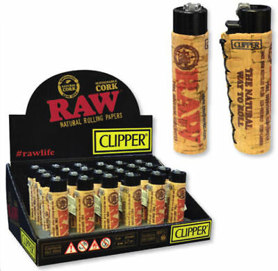 100% RawThentic limited edition refilable Raw Cork Clipper Lighter